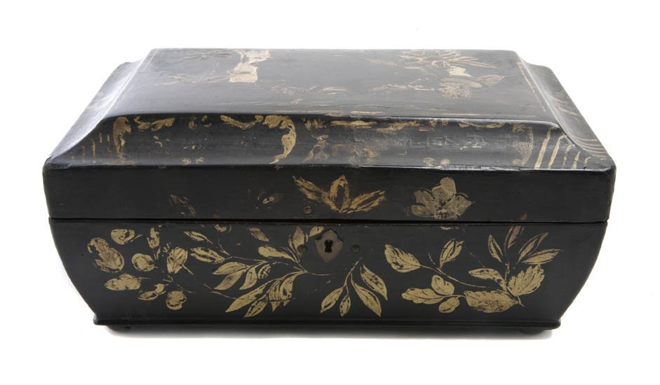 2147: A Lacquered Victorian Box, Width 11 1/4 inches.