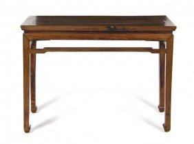 A Chinese Hardwood Altar Table, Height 33 3/4 X W