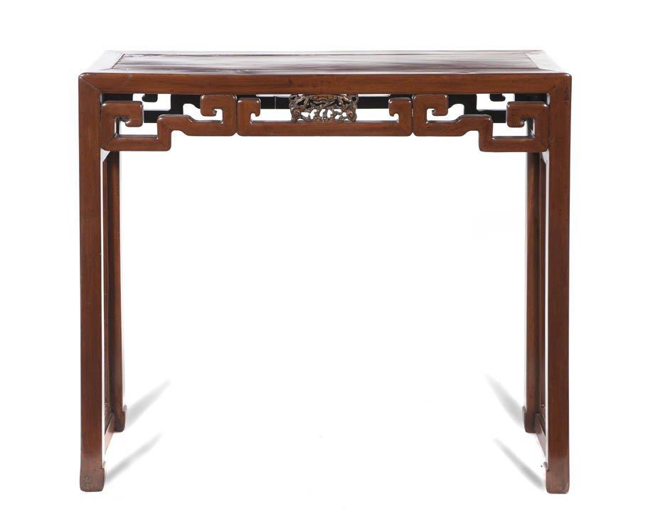 2598: A Chinese Wood Altar Table, Height 33 x width 39