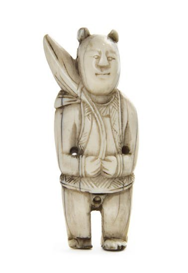2603: A Carved Ivory Erotic Figure, Height 2 1/4 inches