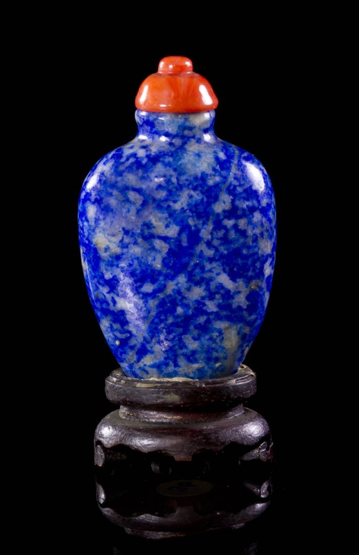 2606: A Lapis Lazuli Lady's Snuff Bottle, Height 1 7/8