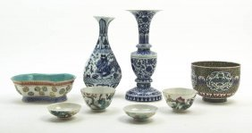 A Collection Of Chinese Porcelain Articles, Heigh