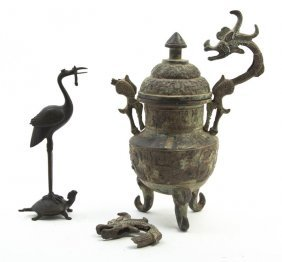 A Chinese Archaistic Style Wine Vessel, Height Of