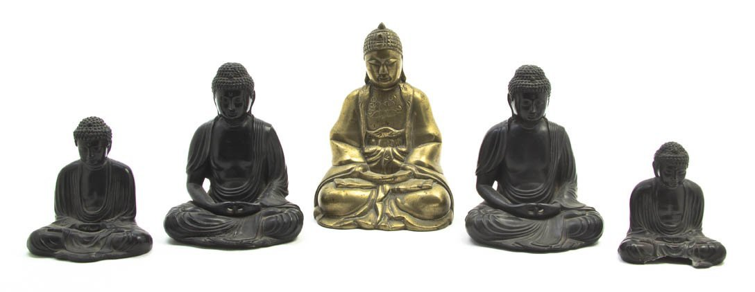 2698: A Collection of Four Cast Metal Figures of Buddha