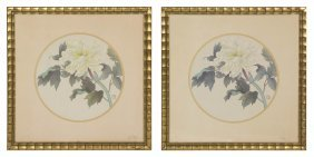 Two Chinese Contemporary Offset Lithographs, Diam