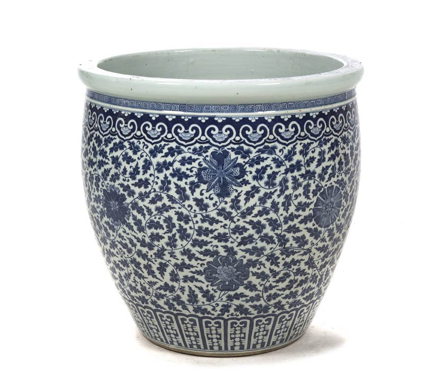 2710: A Chinese Ceramic Jardiniere, Height 24 1/2 inche