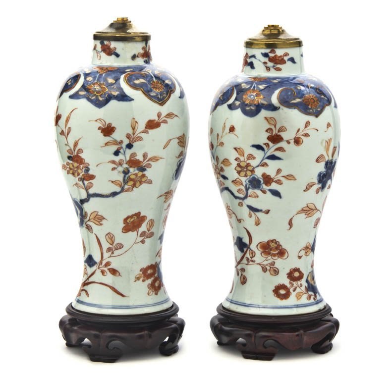 2720: A Pair of Porcelain Baluster Vases, Height of vas