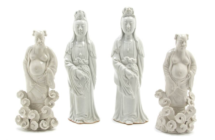 2730: A Collection of Four Blanc de Chine Figures, Heig