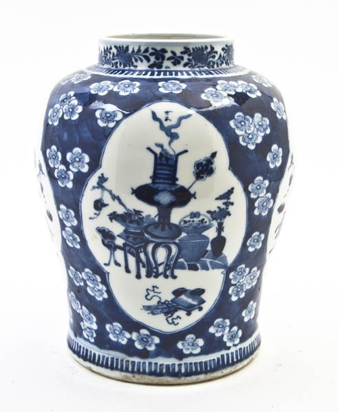 2734: A Chinese Porcelain Vase, Height 12 inches.