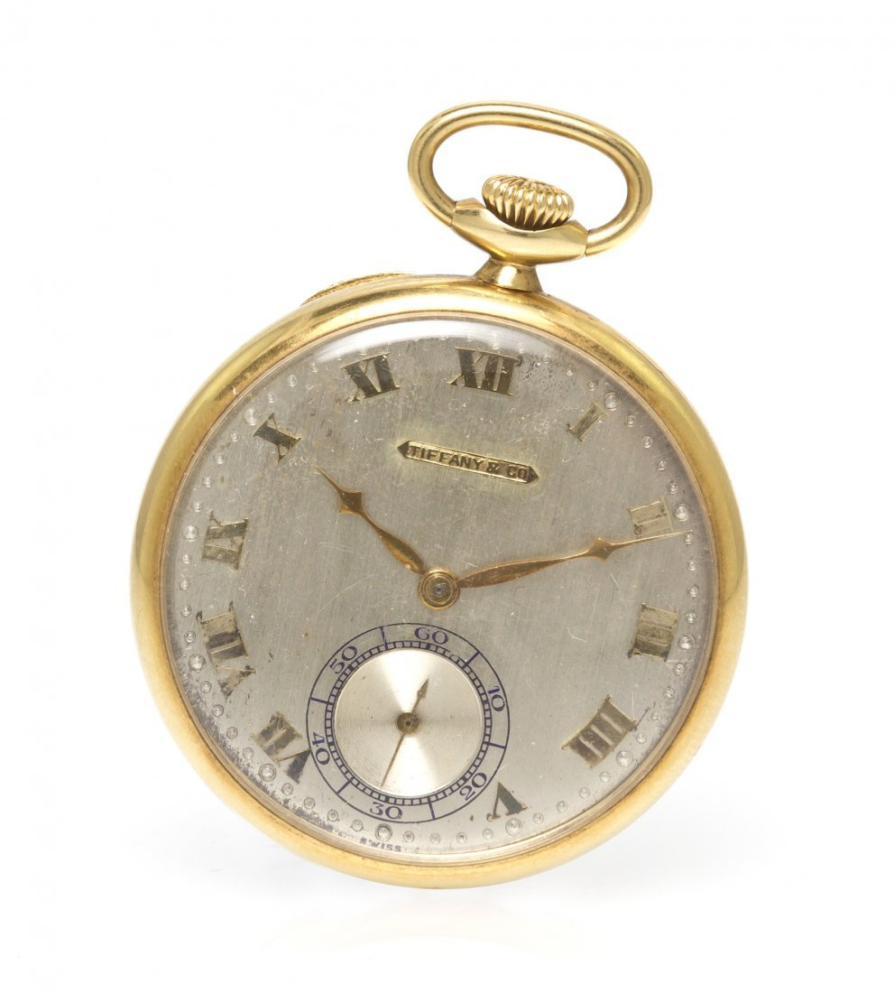 370: An 18 Karat Yellow Gold Open Face Pocket Watch, Ti