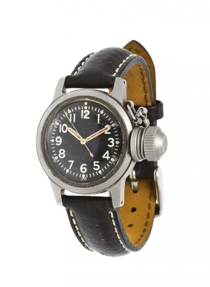 380: A Base Metal WWII Divers Wristwatch, Elgin,