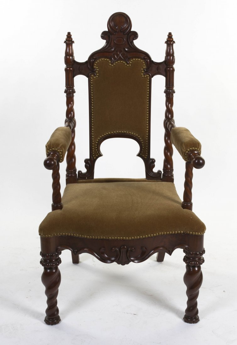 2005: A Gothic Revival Hall Chair, Height 48 1/4 inches