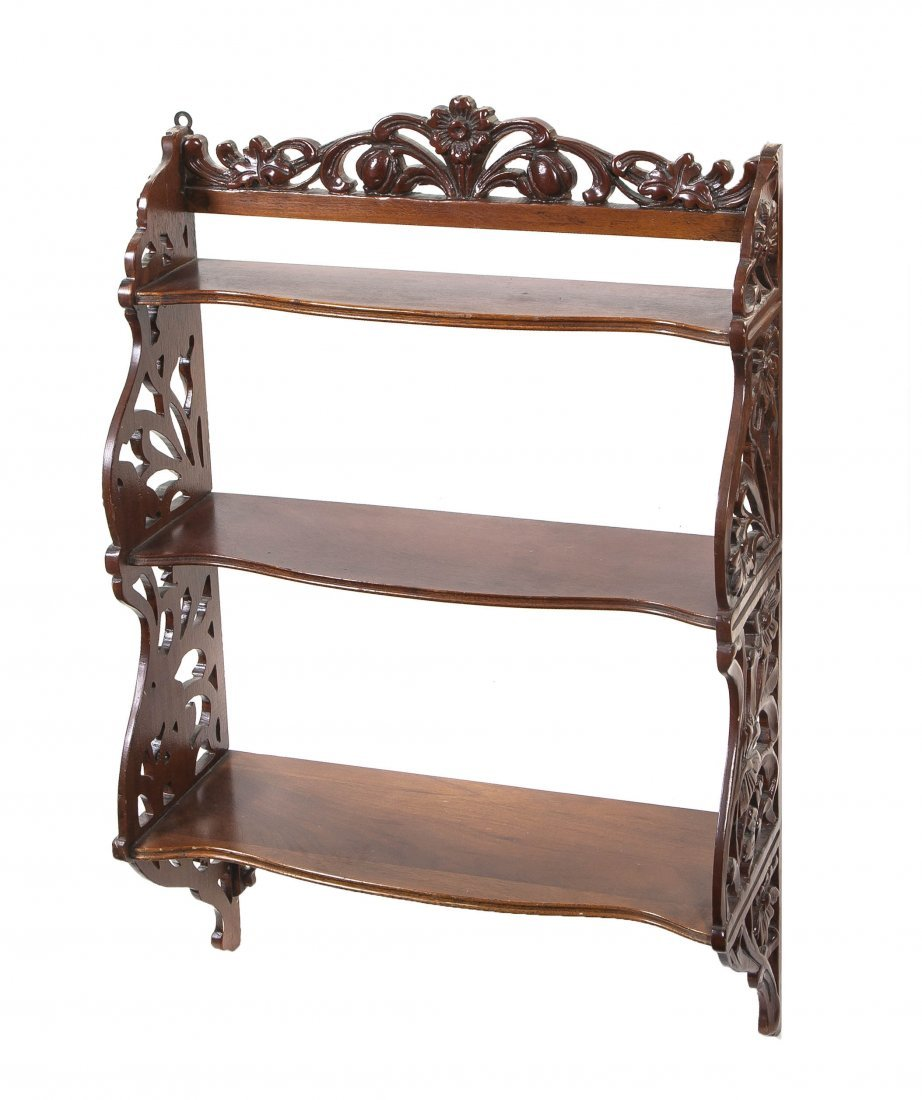 2012: An Art Nouveau Style Carved Hanging Shelf, Height