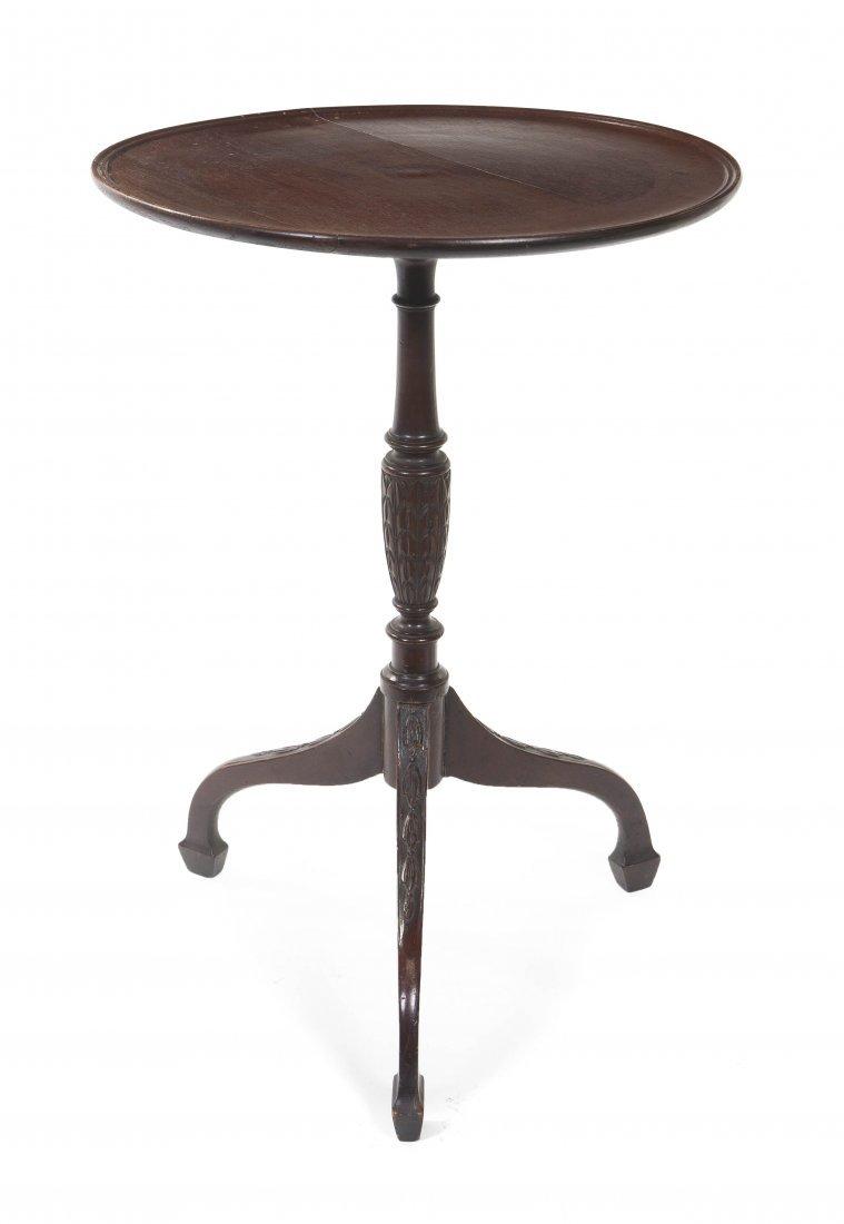 2013: A Mahogany Tilt-Top Tea Table, Height 24 1/4 x di