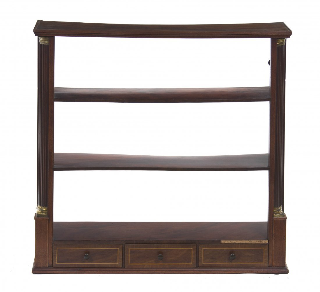 2015: A Georgian Style Mahogany Hanging Etagere, Height