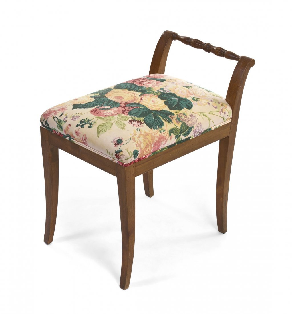 2021: A Continental Upholstered Dressing Bench, Height