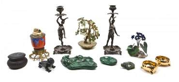 2248 A Collection of Decorative Table Articles Height