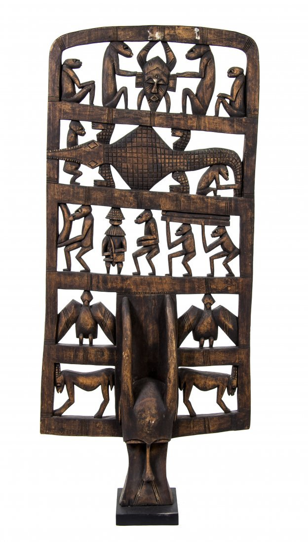 2448: An African Carved Wood Mask, Height 61 1/2 inches