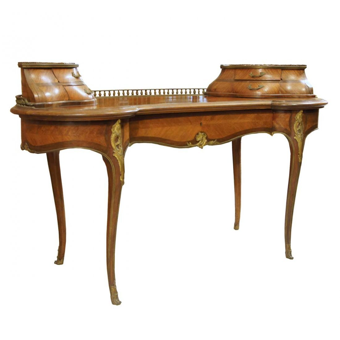 13: A French Signed Louis XV Style Kidney Shaped Parque