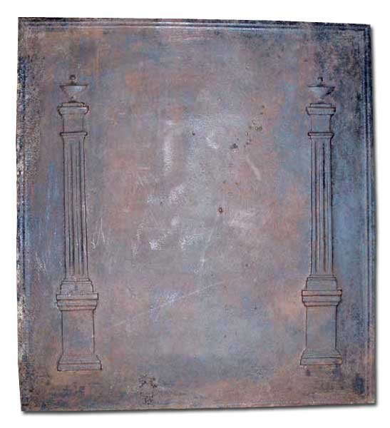 20: A French Louis XVI Cast Iron Fireplace Fireback, He