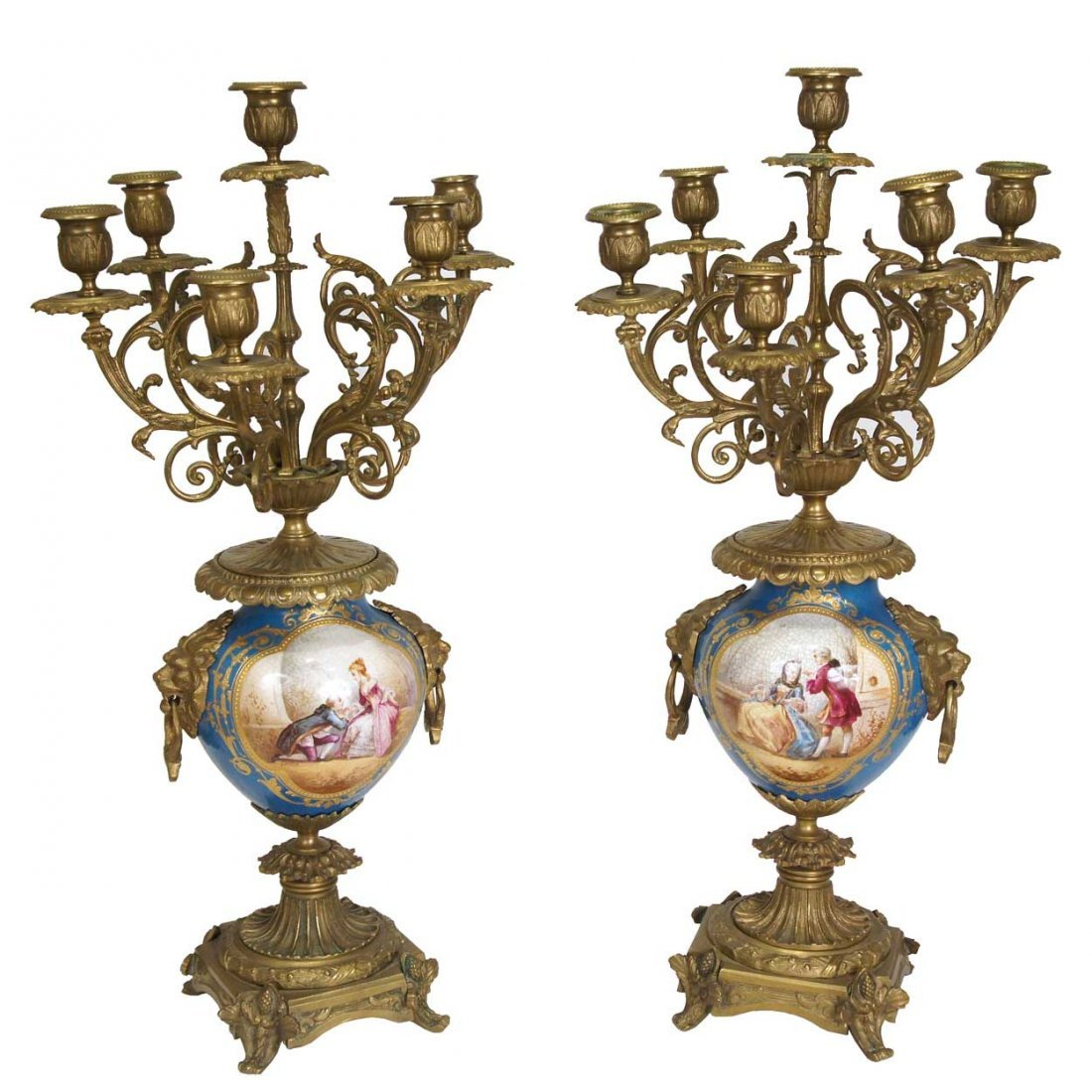 22: A Pair of French Louis XVI Style Garniture, Height