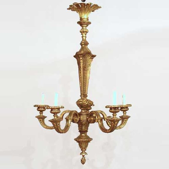 23: A French Louis XVI Style Gilt Bronze Chandelier, He