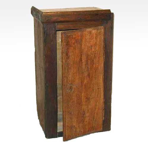 24: A French Provincial Beech and Oak Wall Cupboard, He