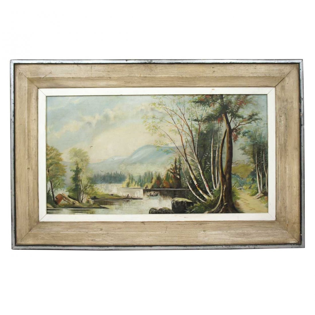 562: An American Victorian Oil on Canvas Landscape Pain