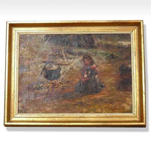 568: Artist Unknown, (British, 19th century), Girl by a