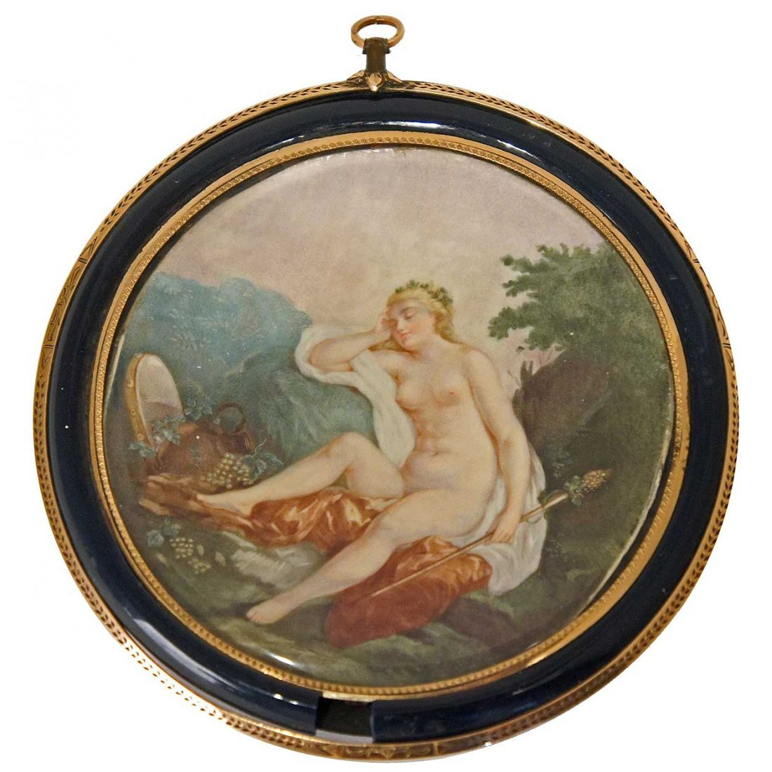 571: A French Louis XVI Style Miniature Cabinet Paintin
