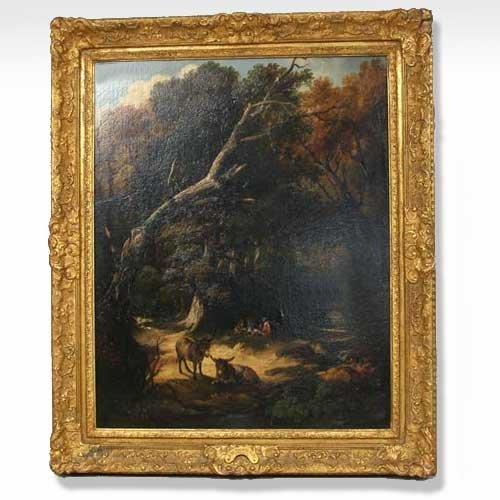 575: Jean Thomas Tuite, (French, 19th century), Woodlan