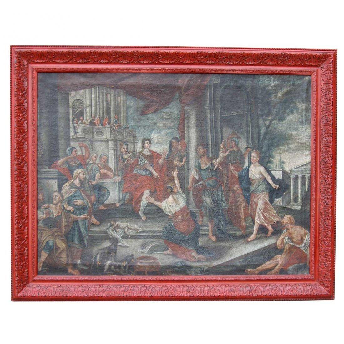 579: Italian School, (18th century), Judgment of Solomo