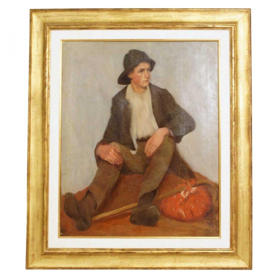 582: Continental School, (19th century), Migrant Boy Fo