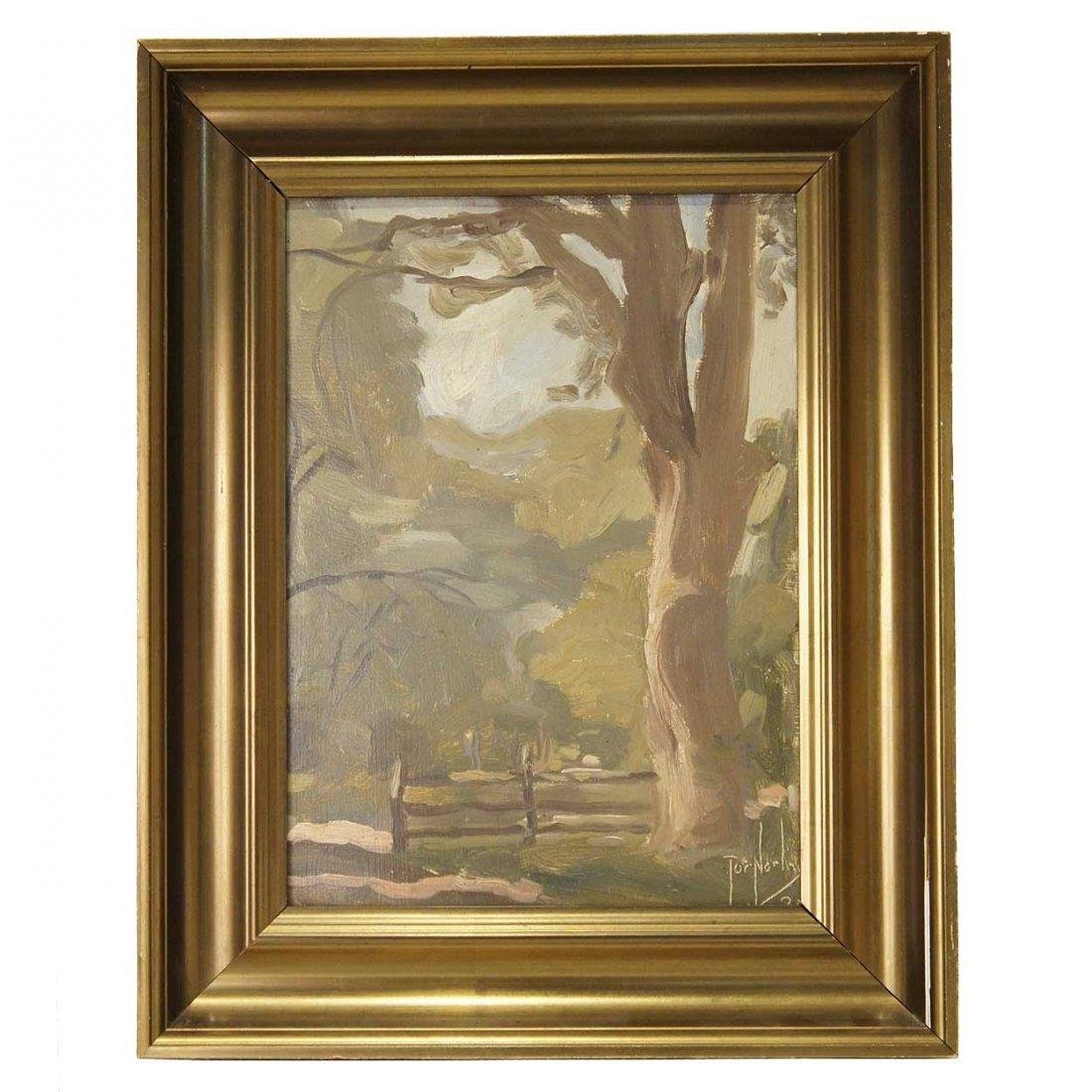583: Tor Norling, (Swedish, 1895-1972), Landscape