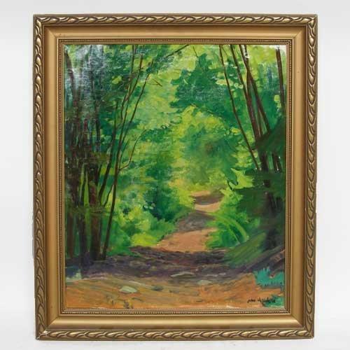 584: Johannes Kolbel, (Norwegian, 1883-1983), Forest Pa