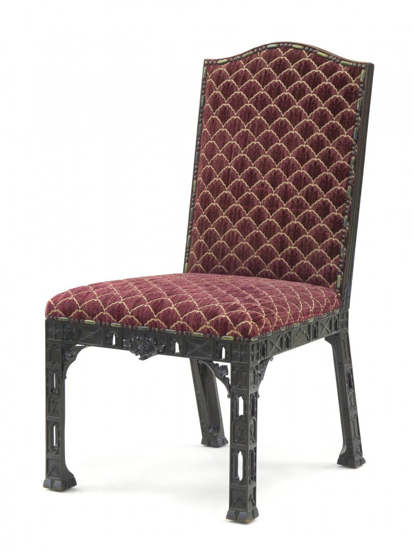 13: A Chinese Chippendale Style Mahogany Side Chair, He