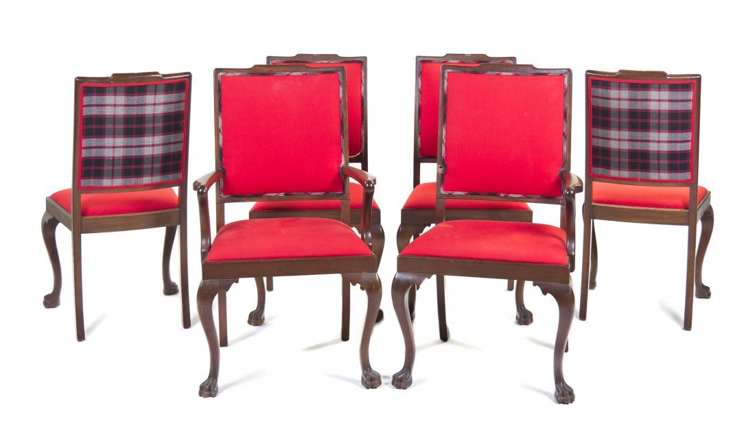 18: A Set of Six Georgian Mahogany Dining Chairs, Heigh