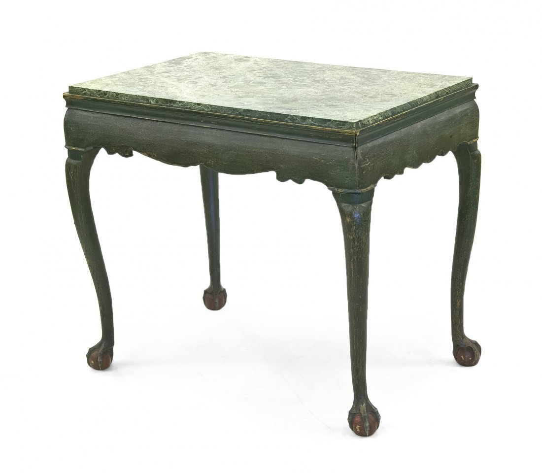 23: A George II Style Center Table, Height 29 1/2 x wid