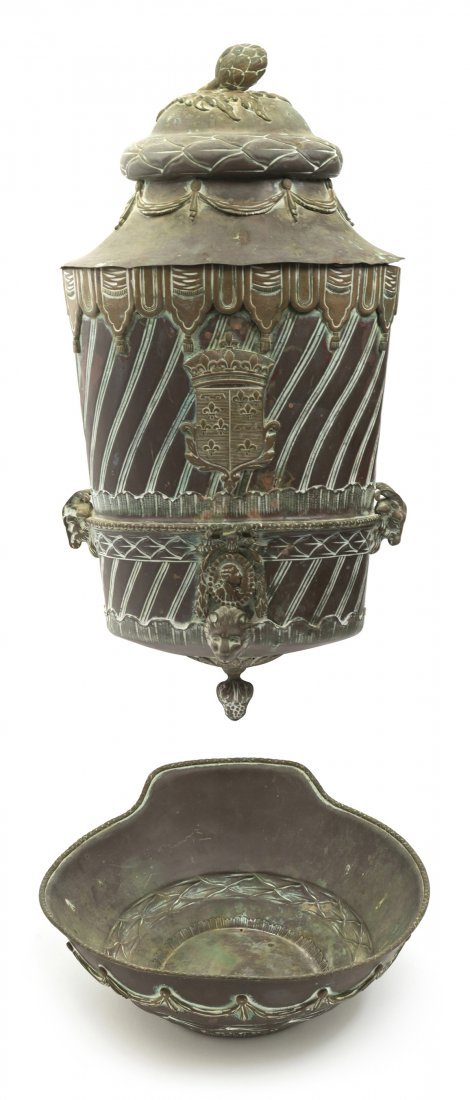 423: A French Copper Lavabo and Basin, Height of lavabo