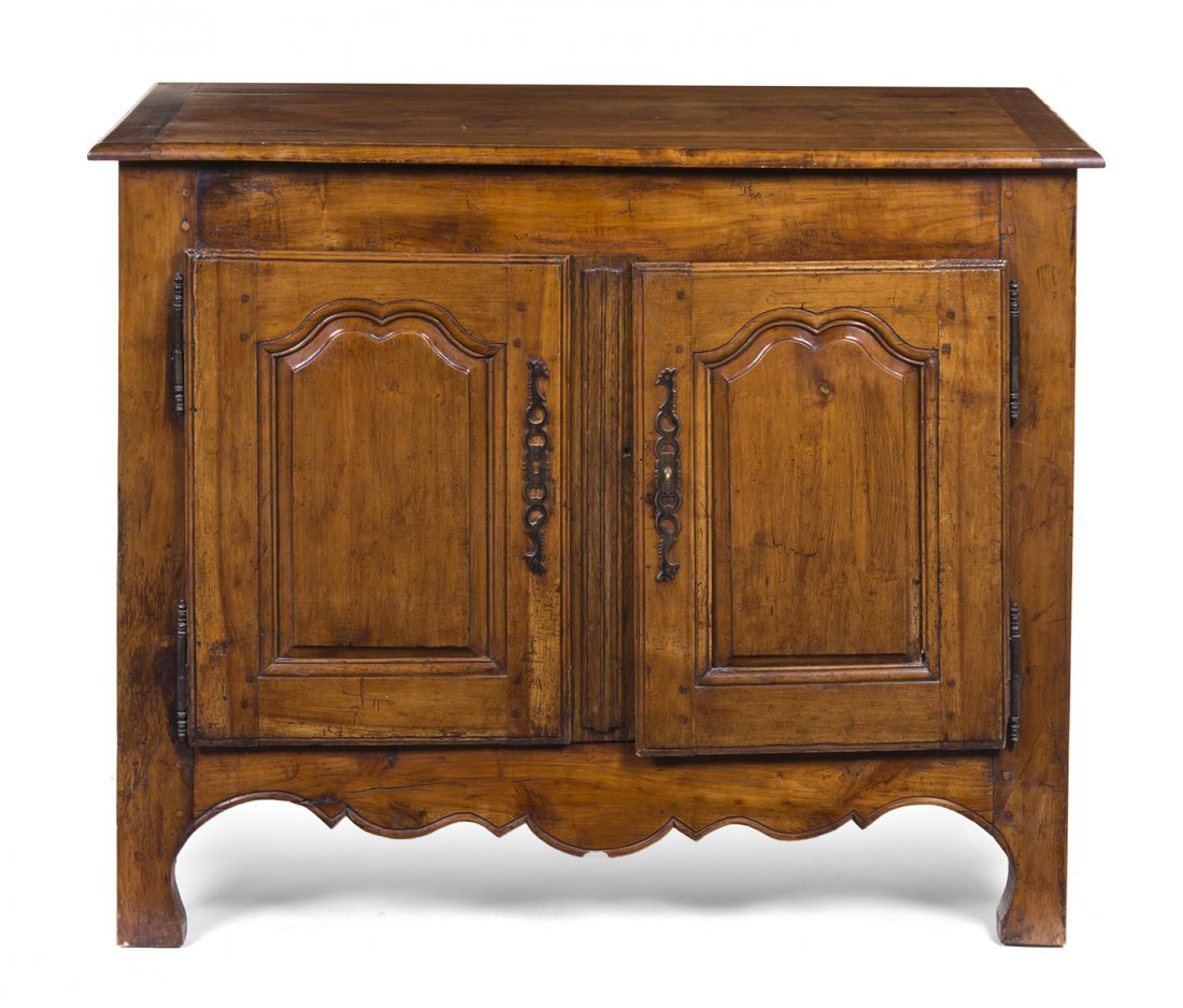 425: A French Provincial Style Walnut Server, Height 38
