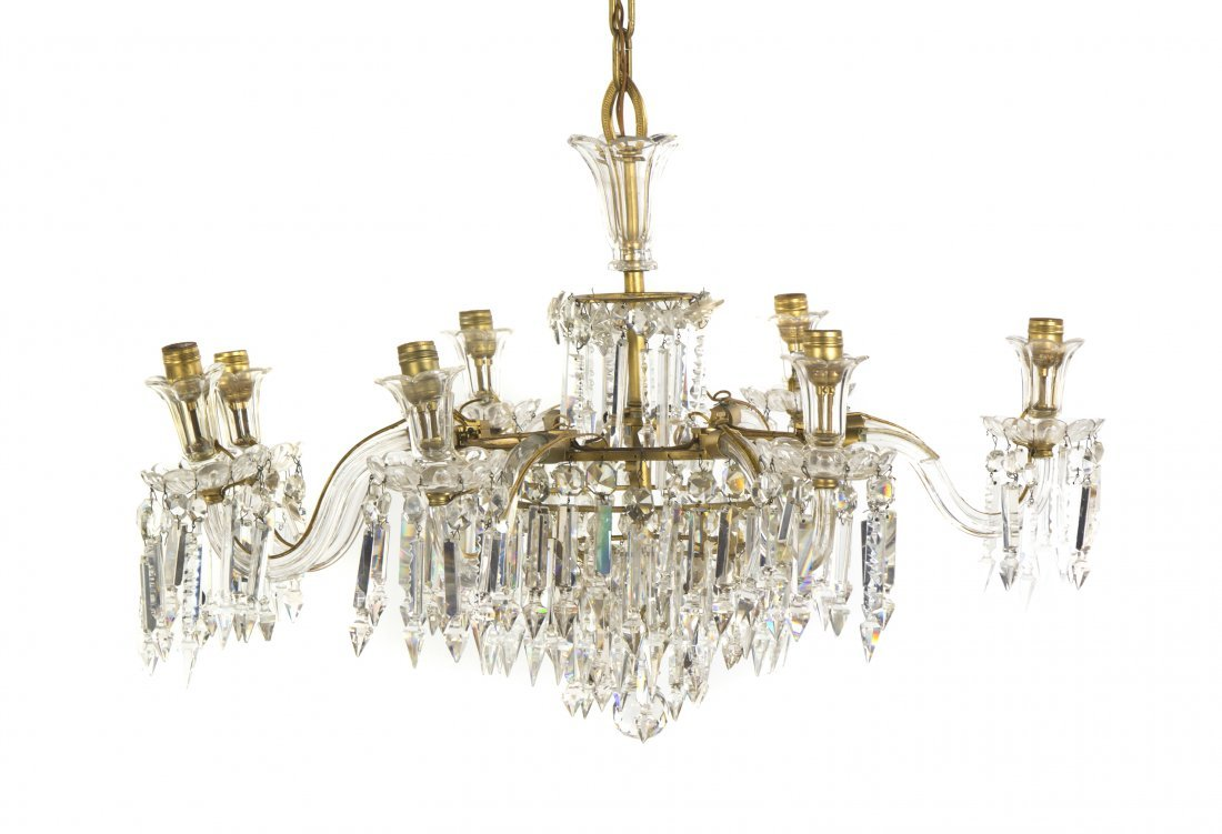 439: A French Eight-Light Chandelier, Diameter 45 inche