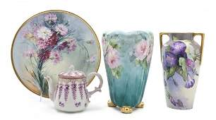 618 A Collection of Continental Painted Porcelain Arti