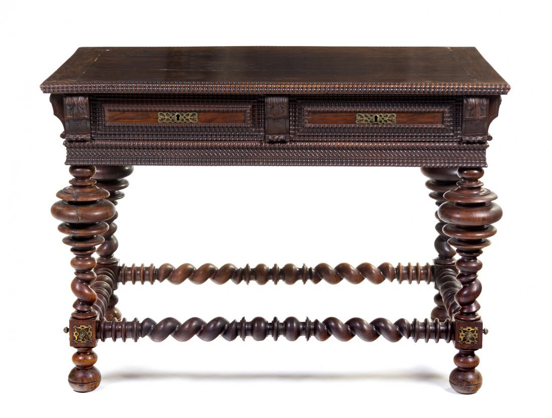 694: A Northern European Center Table, Height 31 1/4 x