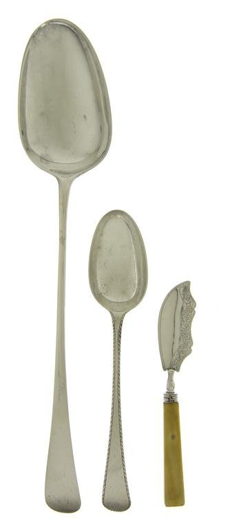 904: An English Silver Stuffing Spoon, Length of longes