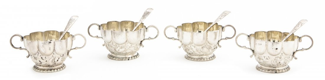 912: An English Silver Salt Service, James Wakely & Fra