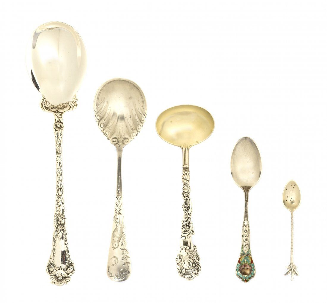 A Collection of American Sterling Silver Spoons,