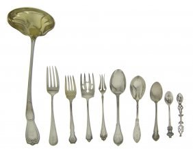 An Assembled Group Of American Sterling Silver Fl