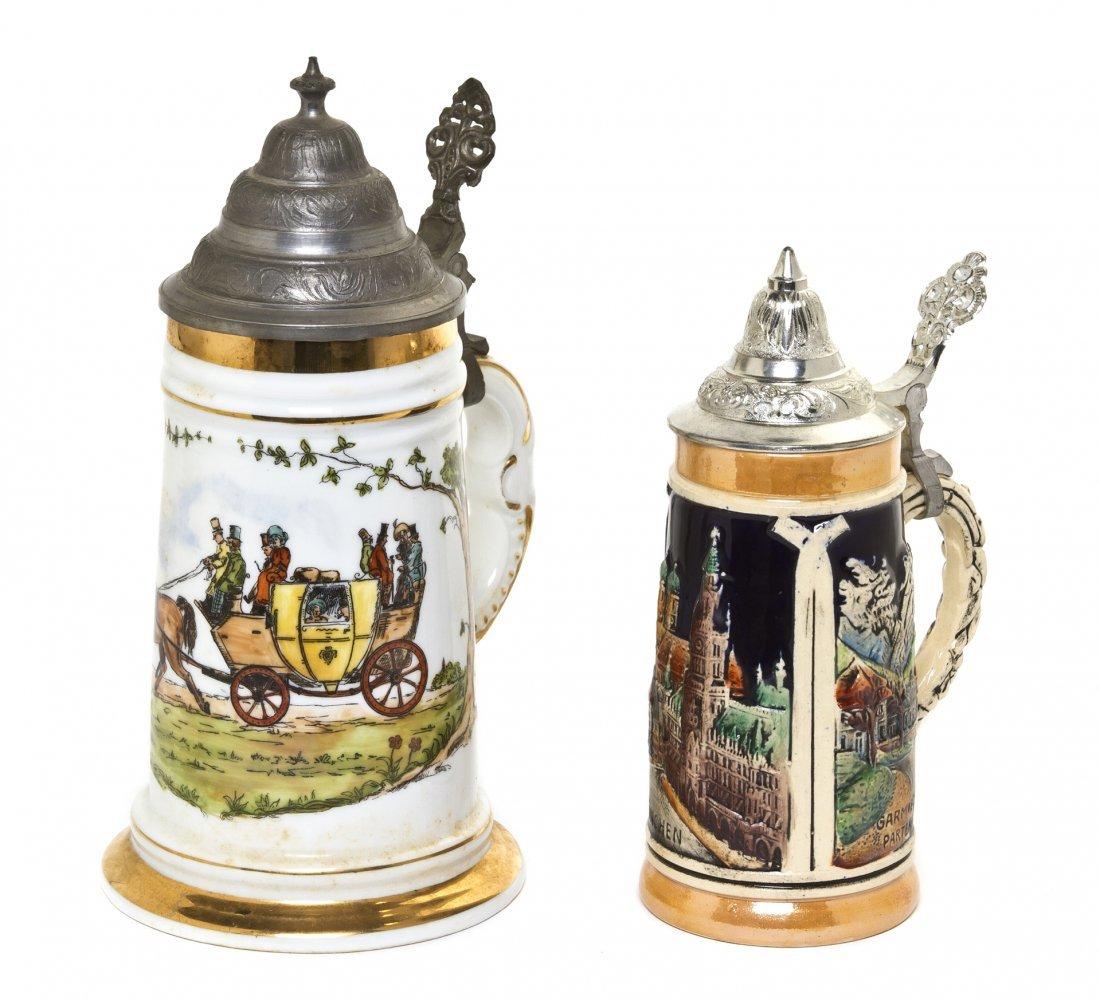 1074: A German Porcelain Stein, Mettlach, Height of fir