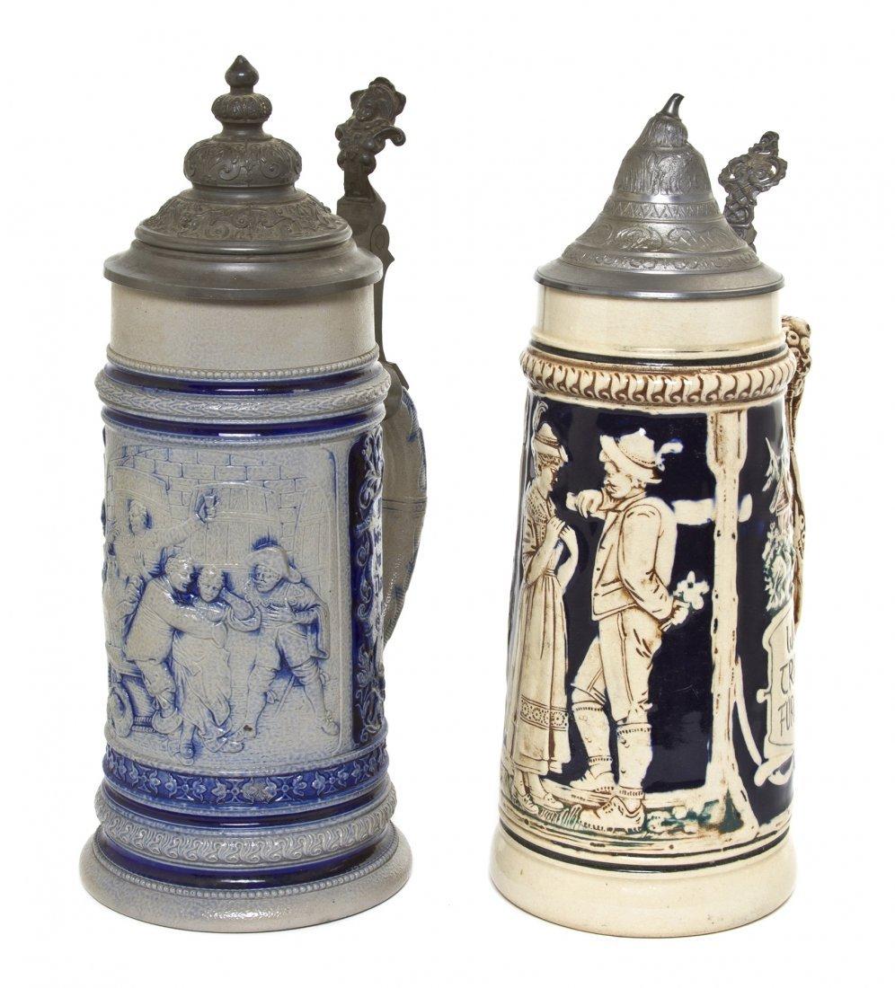 1079: A German Pottery Stein, Reinhold Hanke, Height of
