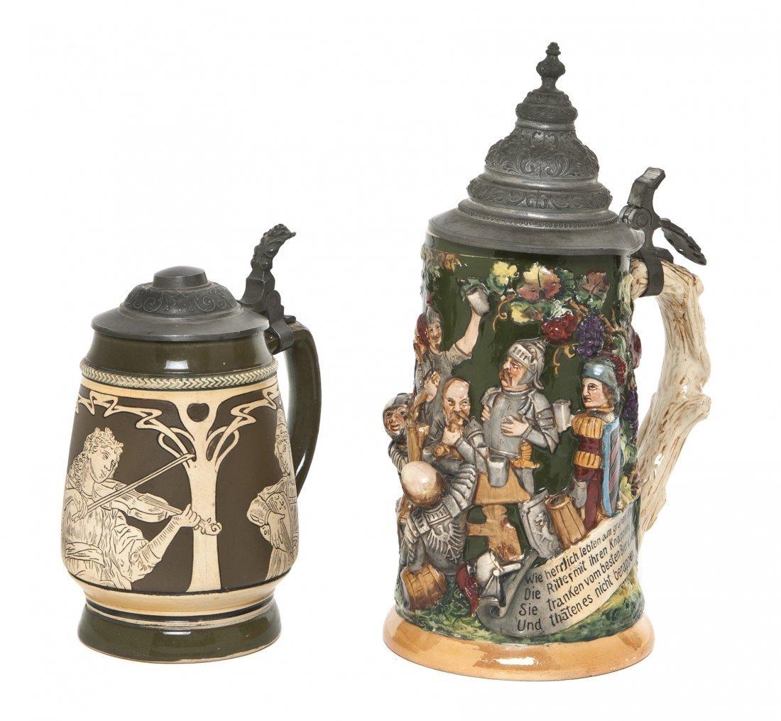 1084: A German Pottery Stein, Simon Peter Gerz I, Heigh